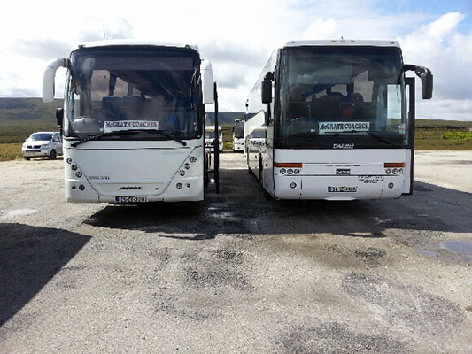 McGrath Coaches is renowned as one of the premier coach hire companies in the west of Ireland.)