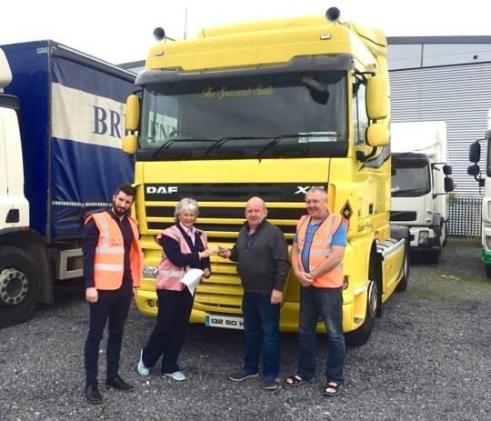 DAF Trucks Ireland donate XF to support Chernobyl humanitarian mission)