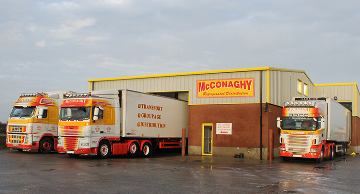 McConaghy Refrigerated Distribution Limited's impressive fleet of trucks consists of mainly Scania and Volvos in addition to one DAF.)