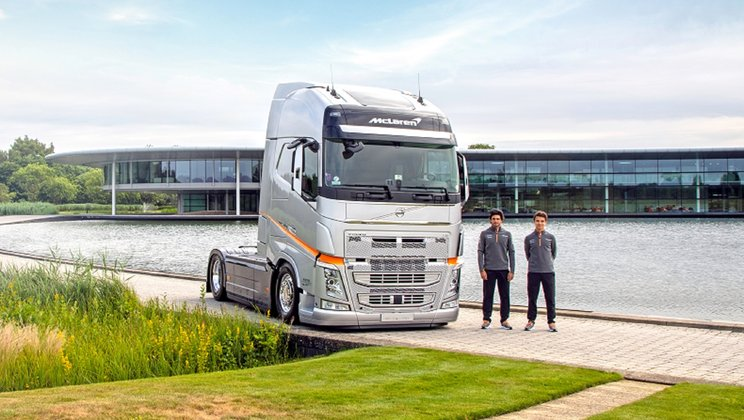 Volvo Trucks has announced a two-year extension to their partnership with the McLaren Formula 1 team)