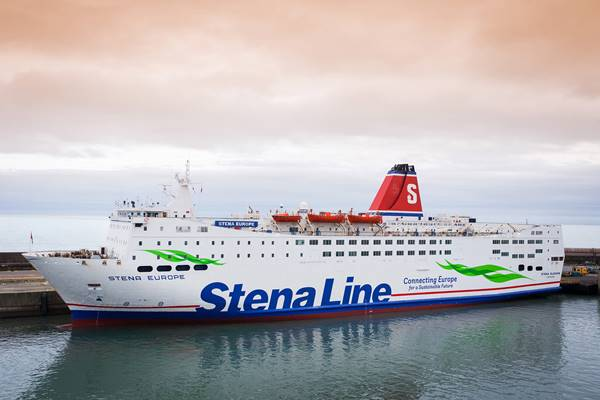 Stena Superfast VIII with new livery)