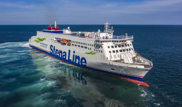 Stena Estrid sea trial)
