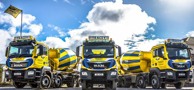 Tracey Concrete Readymix Lorries)