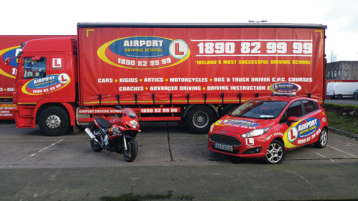 Airport Driving School offers courses which include Driver CPC, LGV (Large Goods Vehicle)