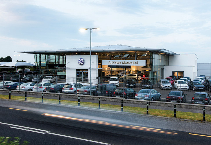 The gleaming showroom - the largest in Ireland - can hold 16 cars and encompasses a new vehicle car handover lobby. )