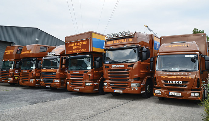 Established in 1975 by Eamonn Finn, Allen Removals are renowned as efficient, professional and careful movers.)