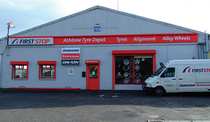 Athlone Tyre Depot also carry out a lot of fleet and contract work for the likes of DPD in Athlone, An Post, eircom and some small- to medium-sized local hauliers. )
