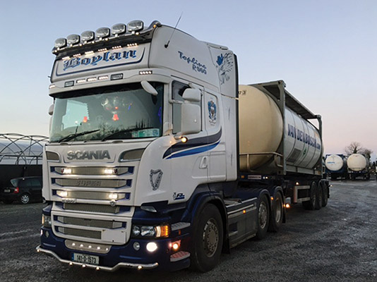 Scania is the truck of choice for Tony Boylan Transport Ltd.)