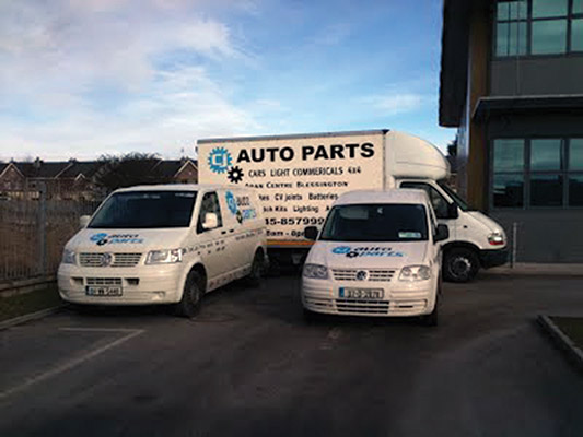 CJ Autoparts have two service vans doing deliveries to customers, which saves them time in having to travel to pick up the parts.)