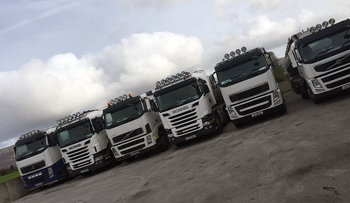 The Culletion Fleet is made up of four Volvo and three Scania.)