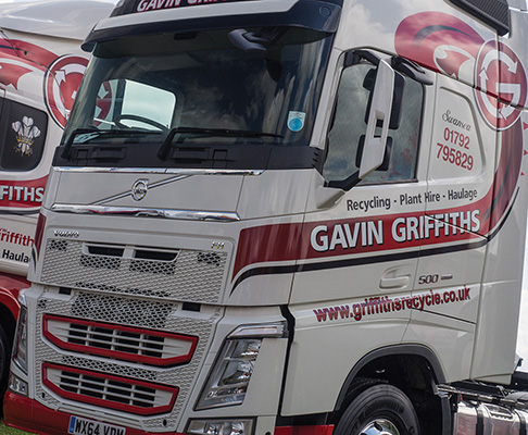 Griffiths operate a fleet of 15 trucks and a wide range of machinery.)