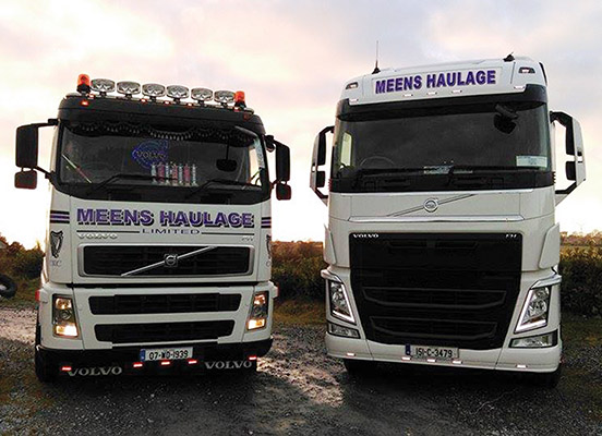 Meens Haulage specialises in milk collection from farm to factory.)