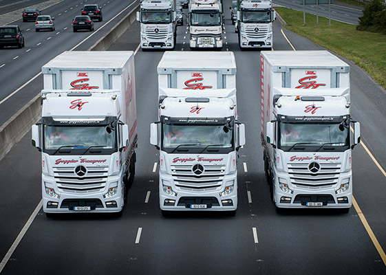 Goggins Transport Ltd has grown into one of Ireland's leading haulage companies with over 80 tractor units and 150 trailers, and a 110-strong staff.)