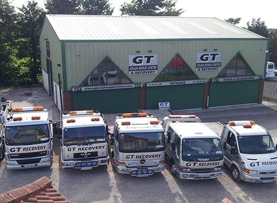 GT Group comprises three separate divisions - GT Recovery, GT Crash Repair Centre and GT Tyre & Service Centre.)