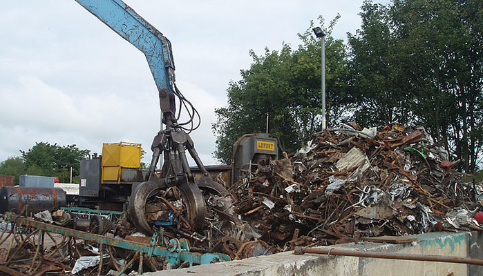 The recycling plant in Portadown receives scrap metal from customers in counties Armagh, Down, Tyrone and Monaghan.)