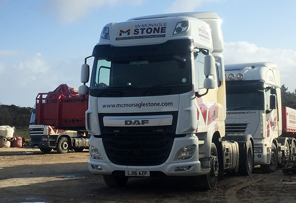 The McMonagle fleet also consists of a pair of DAF CF430s, two Iveco Stralis and one Hino.)
