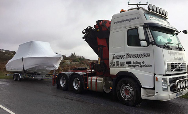 James Brennan Transport has developed a reputation for quality and service which is the envy of many of its competitors.)
