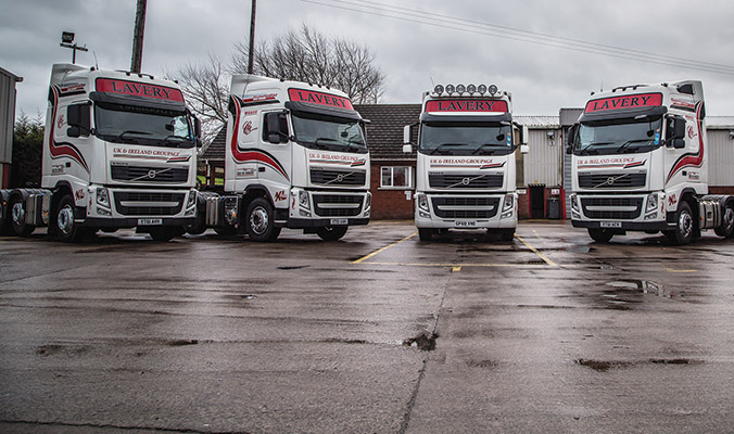For over 30 years Lavery Transport Ltd has been a leading provider of road haulage and distribution services throughout Ireland the UK )