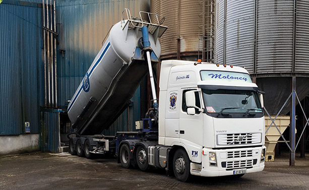 Barry Moloney Transport Ltd is committed to providing quality service at all times)
