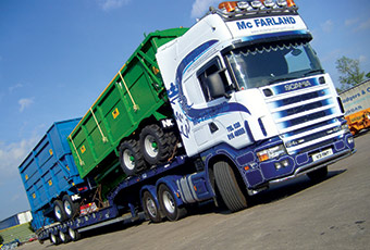 McFarland Transport can offer an excellent service that can be tailored to meet the customers demands.)
