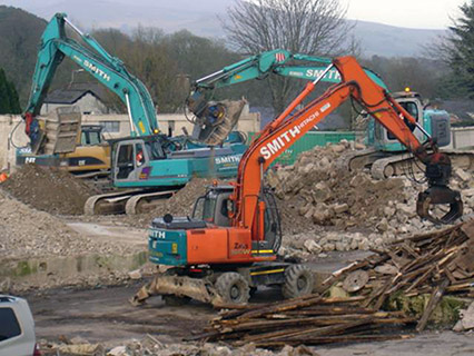 One of Ireland's leading demolition firms is Limerick based Smith Demolition)