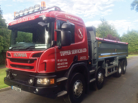 Tipper Services Ltd. boasts an outstanding track record in delivering construction materials.)