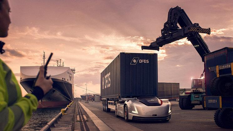 Volvo Trucks autonomous and electric vehicle Vera )
