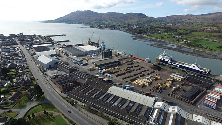 Warrenpoint Port also benefits from being able to cater for a mixed customer base.)
